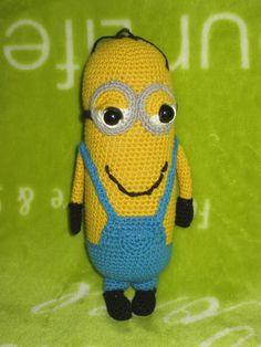 Minion 15 cm tall Minions, Handmade, Fictional Characters, Art, Amigurumi, Hand Made, Craft, Kunst, Minion