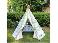 Tutorial: Make a teepee play tent Slumber party ideas decorations games , crafts and activities.