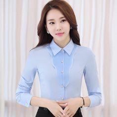 385d5b0cbe New autumn Long-sleeve shirt women OL elegant ruffles formal Business slim  chiffon blouse female office plus size work wear tops