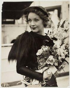 1930s Actress Helen Twelvetrees wearing a dress designed by Elsa Schiaparelli.