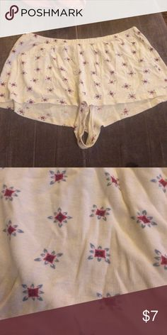 American eagle women's cotton sleep shorts Gently worn super short sleep shorts American Eagle Outfitters Intimates & Sleepwear Pajamas