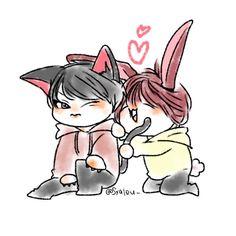 [FANART] UP10TION Wei & Xiao - cr:@syaleu_