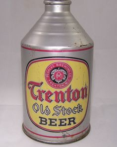 Trenton Old Stock Beer, USBC This can is all original. The Trenton is a tough crowntainer, though it does have imperfections, the can displays very well. Peoples Brewing Co. Trenton N.J Grade Circa Added on Beer Can Collection, Old Beer Cans, Beer Brands, Brewing Co, Gas Station, Grade 1, Tins, Old Cars, Beer Bottle
