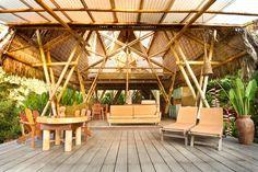 The open air design allows ocean breezes to pass through the house.