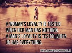 A woman's loyalty is tested when her man has nothing...