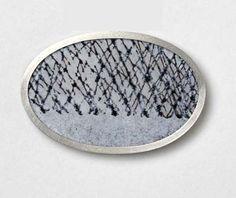 Jessica Turrell. Brooch: winter series, 2006. Silver, vitreous enamel, copper.