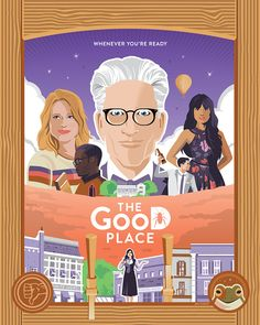 The Good Place by Kevin Tiernan The Good Place Episodes, Rocket Raccoon, New Shows, Cool Artwork, Favorite Tv Shows, Nerdy, Poster, Deviantart, Photo And Video