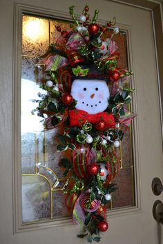 Snowman Door Swag by kristenscreations on Etsy, $90.00