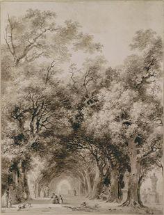 Jean-HonoréFragonard (Fr. 1732-1806),L'allée ombrageuse,lavis bistre, 45,7 x 34,7cm,Paris, Petit Palais