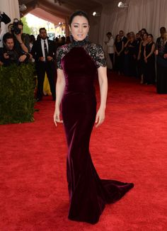 """Gong Li arrives at The Metropolitan Museum of Art's Costume Institute benefit gala celebrating """"China: Through the Looking Glass"""" on May 4, 2015."""