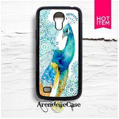 Watercolor Peacock Samsung S4 Mini Case