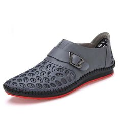 Casual Genuine Leather Shoes Breathing Flats For Men