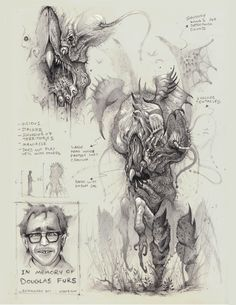 ArtStation - The Creatures of Bobby Rebholz Monster Sketch, Monster Art, Monster Concept Art, Fantasy Monster, Creature Concept Art, Creature Design, Arte Horror, Horror Art, Creature Drawings