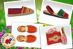 Aux Couleurs de l'Arc en Ciel #TortueJolie #FreshLiving #Trend #StreetStyle #Espadrilles #Sandals #WomanShoes   http://tortuejolie.com