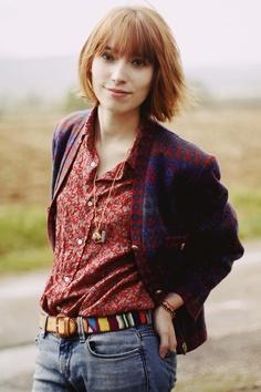 Thrifted shirt & jacket + Aztec belt = perfect mix