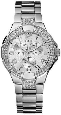 #Guess Watch , GUESS G12557L Stainless Steel Bracelet Watch - Silver