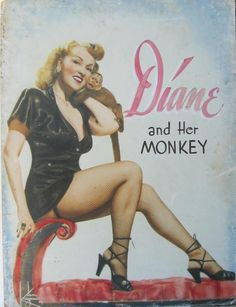 Beautiful vintage promotional poster featuring Diane Ross and Her Monkey