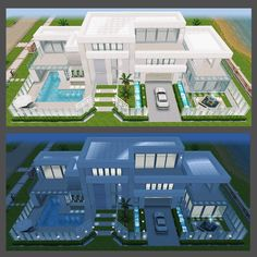 Sims 4 House Plans, Sims 4 House Building, New House Plans, Dream House Plans, Casas The Sims Freeplay, Sims Freeplay Houses, Sims 4 Modern House, Sims 4 House Design, Sims Free Play