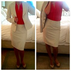 Express Khaki Skirt Suit