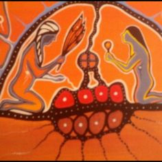 Mohawk Sweat Lodge by Richard Packo (1990). Given to me by my cousin Sherry Higgins.