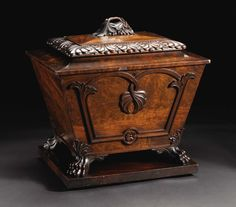 Unknown maker, English Circa 1820-1830 Mahogany solids and veneer, lead sheeting Unmarked