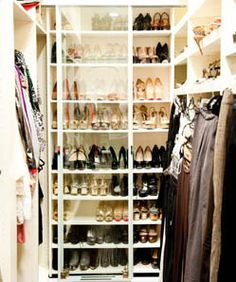 """The higher the heel, the closer to God.  My favourite brand is my own (of course), but I have always loved high heels—they are beautiful and empowering. Various Designers "" Adrienne Maloof (closet)"