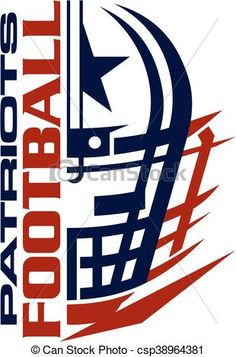 Vector - patriots football - stock illustration, royalty free illustrations, stock clip art icon, stock clipart icons, logo, line art, EPS picture, pictures, graphic, graphics, drawing, drawings, vector image, artwork, EPS vector art