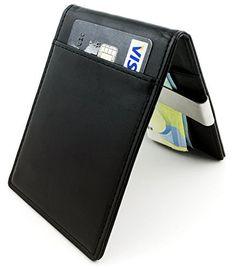 ce4d78dbfb295 Gutes Produkt PREMIUM Kredit Karten Etui mit Edel Stahl Geld Klammer RFID  Schutz Klein Mini Slim