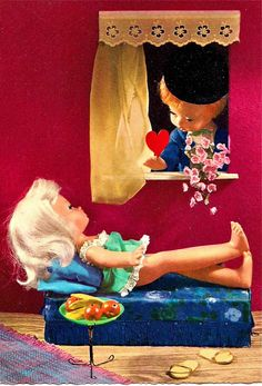 ggsdolls: December 2011 Vintage Greeting Cards, Vintage Postcards, Vintage Ads, Vintage Stuff, Vintage Paper, Vintage Dolls, Hello Dolly, Cute Dolls, Doll Face