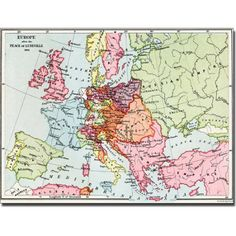 Trademark Art 'Europe After the Peace of Luneville, 1801' Canvas Art, Size: 35 x 47, Multicolor