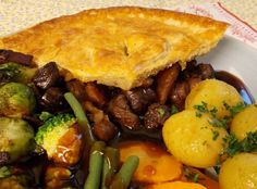 A rich country style game pie which uses game meats such as venison, rabbit, pheasant, partridge and wood pigeon along with red wine, juniper berries and chestnuts. Time consuming, but worth every minute.