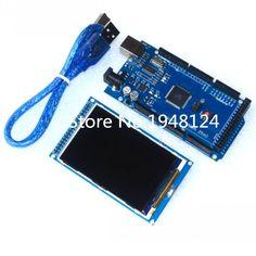 Ücretsiz kargo! 3.2 inç TFT LCD ekran modülü Ultra HD 320X480 için Arduino + usb ile MEGA 2560 R3 Kurulu kablo