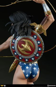 When Sideshow announced the new Wonder Woman Premium Format Figure, needless to say, collectors were excited. With her pre-order only days away, Sideshow now gives us a full look at this goddess! Pre-Orders for Wonder Woman begin on Thursday, January Wonder Woman Kunst, Wonder Woman Art, Wonder Woman Comic, Superman Wonder Woman, Wonder Women, Marvel Girls, Comics Girls, Marvel Vs, Medieval Combat