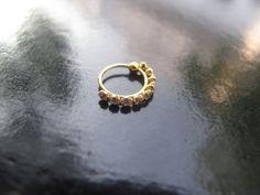 18k Indian Gold Nose Ring, 18k Gold Nose Stud, 18k Gold Nose Ring, Gold Boho Jewelry by RabariRajkumari on Etsy