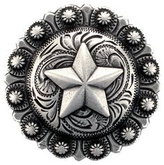 """Time to start designing my own spurs, collars, and cell phone cases  BS9264-3 SRTP  1 1/2"""" Star Berry Concho"""