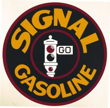 """3/"""" FRONTIER HORSE GASOLINE DECAL GAS AND OIL GAS PUMP SIGN WALL ART STICKER"""