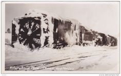 RP: Denver & Rio Grande Western Rotory Snow Plow No 1 Train , Chama , New Mexico, 1910s