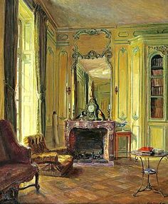 Walter Gay  Library at Bréau   1905-20