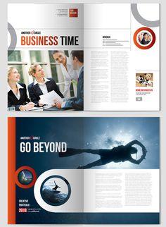 Creative indesign Brochure design template 2 20+ Simple Yet Beautiful Brochure Design Inspiration & Templates