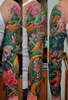 Another well done sleeve tattoo...