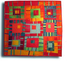 Stacked Stripes Quilt Pattern Raptis-To- Log Cabin Quilts, Édredons Cabin Log, Patchwork Quilting, Scrappy Quilts, Stripe Quilt Pattern, Striped Quilt, Mini Quilts, Quilting Projects, Quilting Designs