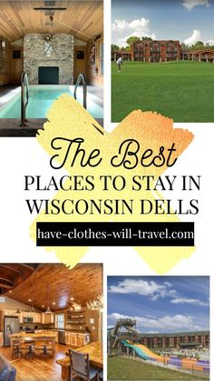 Searching for the best vacation rentals in Wisconsin Dells? Look no further! This post features the best places to stay with pools and waterparks, and some of the most incredible cabins on Lake Delton and near the waterparks. This list includes places for families as well as couple wanting a romantic weekend in Wisconsin Dells.