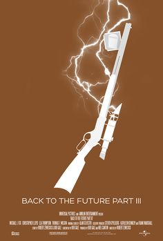 Minimalist Movie Poster: Back to the Future III by Randombell *
