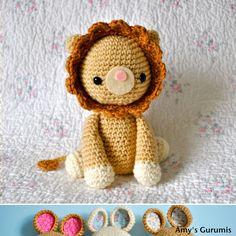 Roy the Lion Amigurumi Crochet Pattern - i must learn to crochet for this! @Olivia García García García SLP please teach me? :)