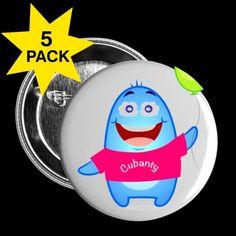 CUBANTY als Button für Deine Tasche, Jacke, oder, oder oder : )5er Pack
