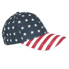 Cotton American Flag Stars and Stripes Baseball Cap by David  amp  Young  1fc697856e14