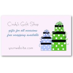 Cute stacked gift boxes business card...$21.90 (per 100)