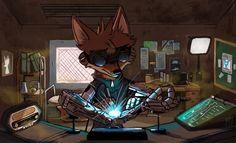 ArtStation - Silverblood Fox, Mankean Keo