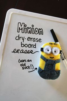 DIY Minion Dry Erase Board Eraser