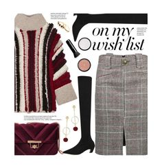 """#PolyPresents: Wish List"" by beebeely-look ❤ liked on Polyvore featuring Eleven Six, Marc Jacobs, Gorjana, Christmas, velvet, contestentry, polyPresents and gamiss"